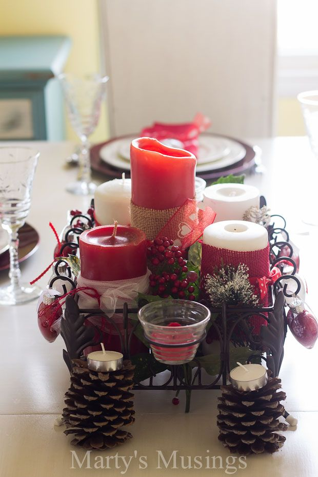 Valentine s Day Tablescape Using Thrifted Natural Elements