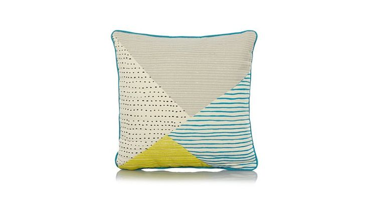 Buy George Home Mixed Geometric Print Cushion  43x43cm from our Cushions range today from George at ASDA.