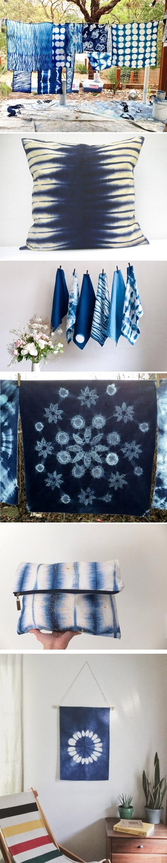 Obviously we use Rit dye in dark blues when we do shibori but there are some really great tips here no matter which type of dyes you choose.