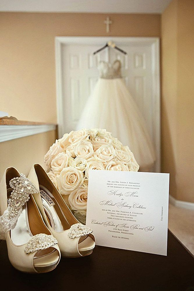 Pre-Wedding Shots: Hanging Wedding Dress ❤ There are plenty of wedding dress detail shots and the most fabulous is hanging wedding dress photos. See more: http://www.weddingforward.com/hanging-wedding-dress/ #wedding #hanging #dress