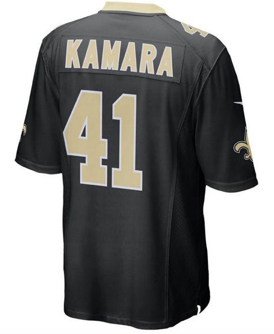 Wholesale Alvin Kamara #41 New Orleans Saints Men's Black Home Game Jersey NEW  for sale