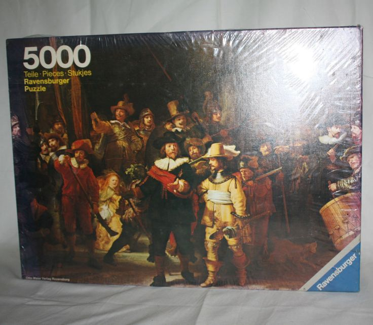 RARE Ravensburger Jigsaw Puzzle 5000 Pieces Rembrandt The Nightwatch '77 Germany #Ravensburger