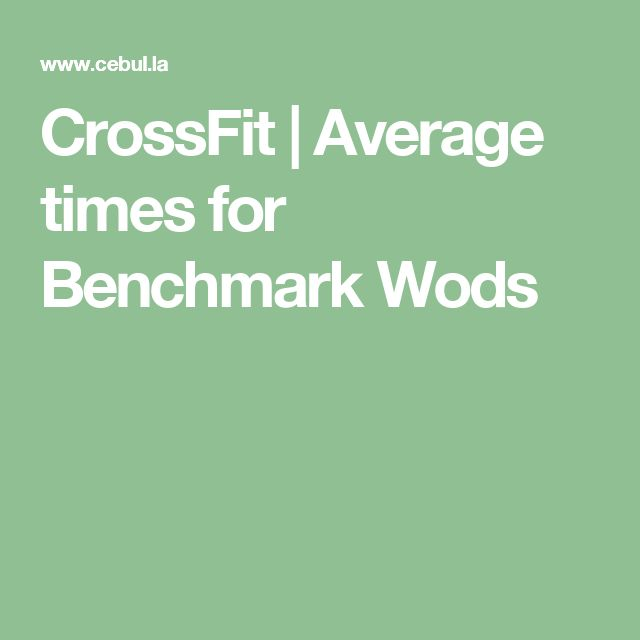 CrossFit | Average times for Benchmark Wods