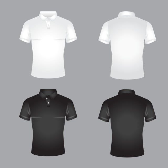 Collection White And Black Polo Tshirts Design Fashion Button Png And Vector With Transparent Background For Free Download Kaos Klasik
