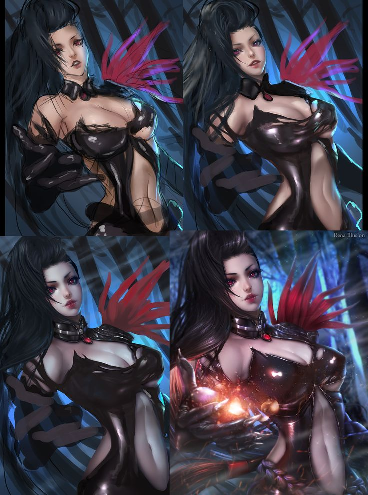 ArtStation - Yu Ran Blade and Soul 유란, Rena Illusion