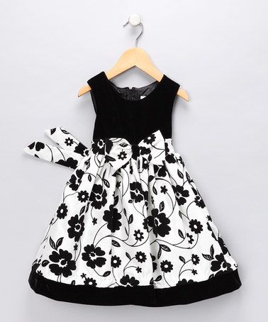 Take a look at this Black Floral Dress - Toddler by Nannette on #zulily today!