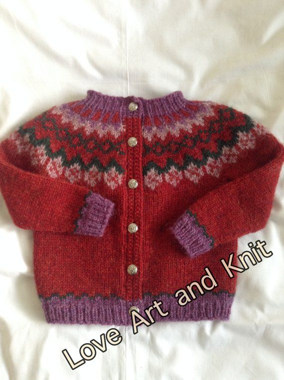 Knitted Fair Isle vest for 3 year old child ready to ship