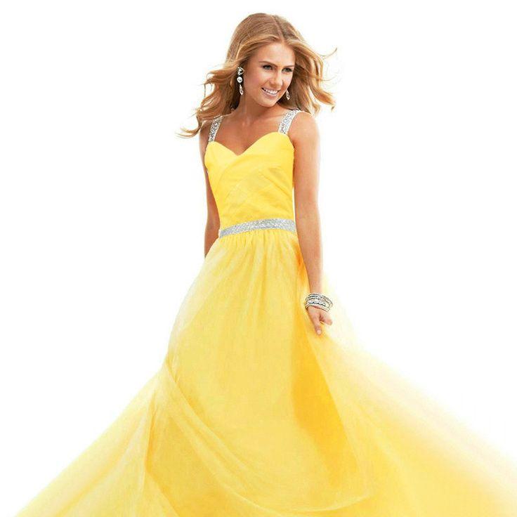 Chiffon Spaghetti Strap Pure Color Long Party Dress