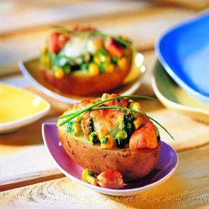 Ofen-Kartoffeln mit Spinat-Haube