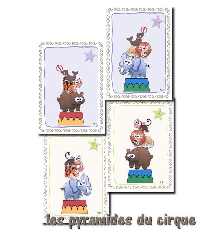 [ jeu à imprimer ] Les pyramides du cirque – Cycle 1 | livres pour la classe Cycle 1 Cycle 2 Cycle 3