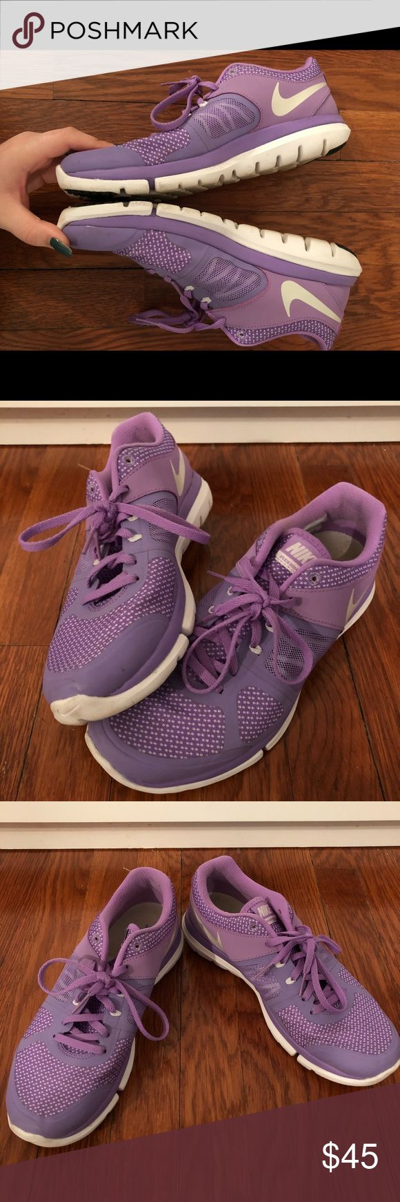Nike Running Shoes Nike Flex 2014 Run (Don't let the year fool you; these are in AMAZING shape!)  -Purple -Size 8 -Comfortable  *OFFERS ARE WELCOMED* Nike Shoes Sneakers
