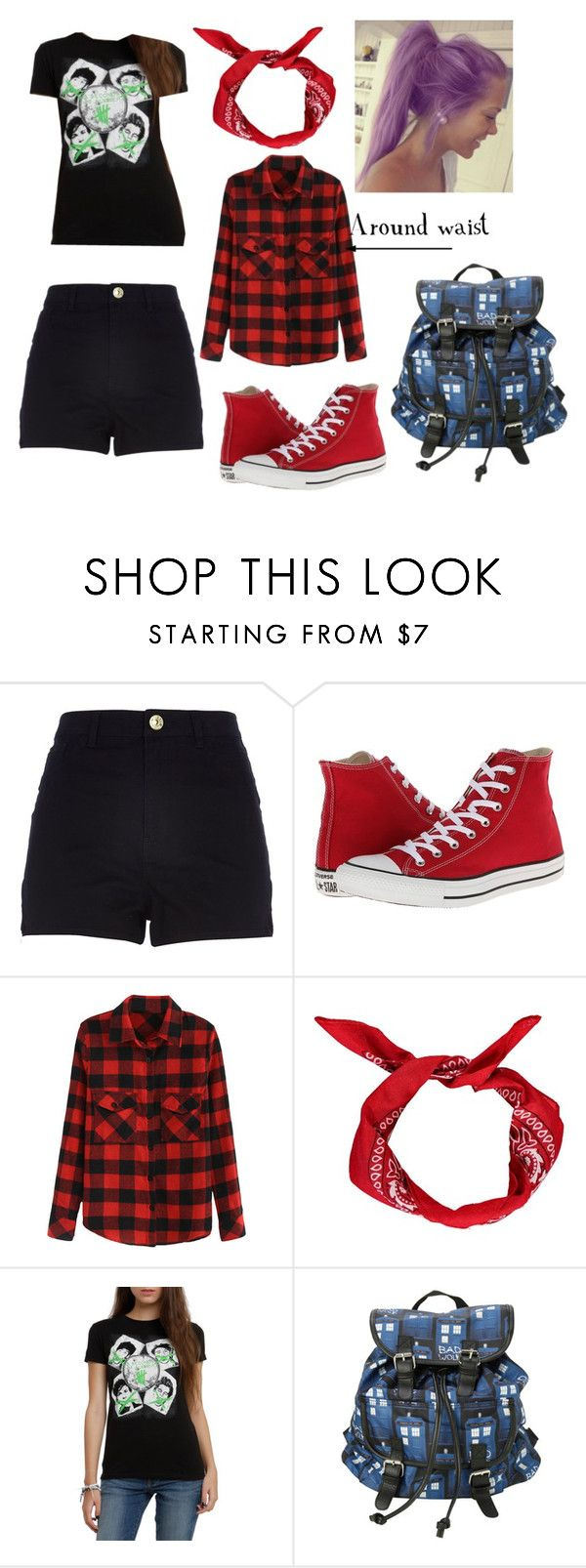 """""""ootd 5sos concert"""" by amsmith0107 ❤ liked on Polyvore featuring River Island, Converse and Boohoo"""
