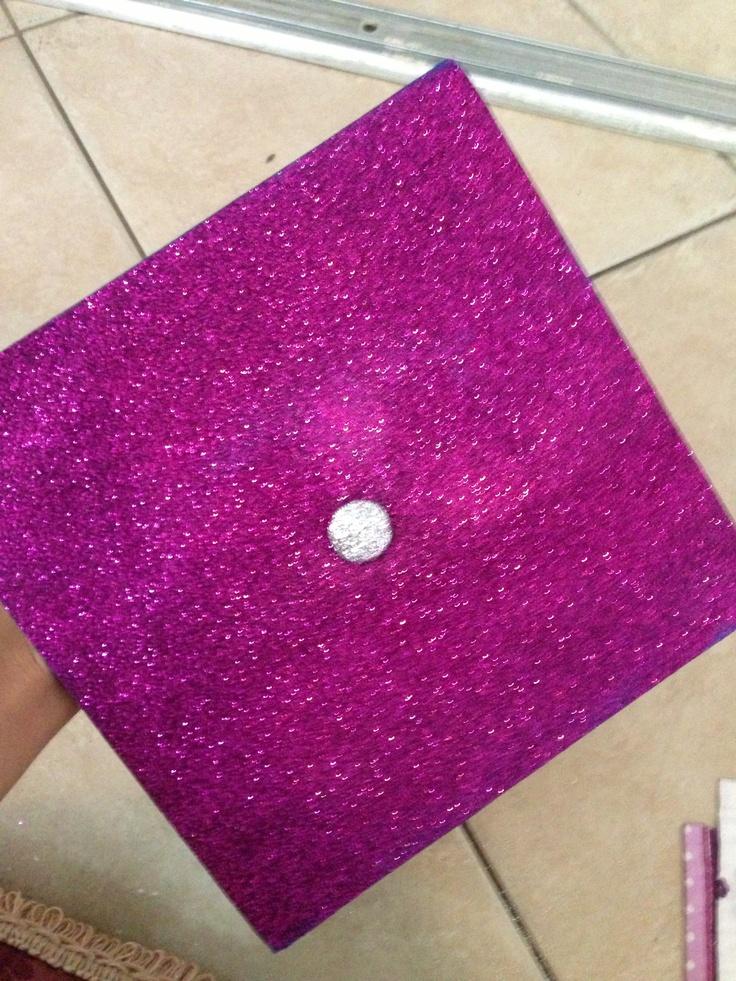 Glitter Decorated Graduation Cap Graduation Cap Ideas