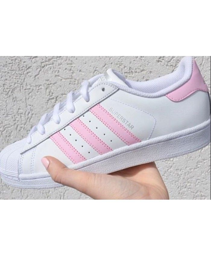 buy popular a7ad0 6cf83 Adidas Superstar Pink Stripe