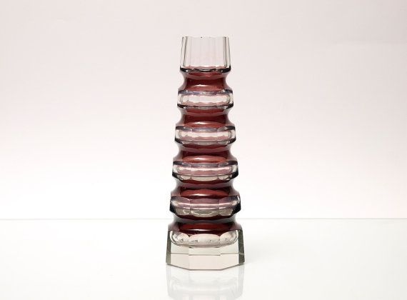 Vintage Bohemia Glass Vase by Carl Goldberg for by BetterLookBack