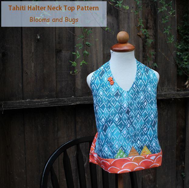 tahiti halter neck top pattern
