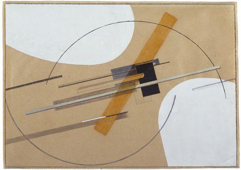 Collection Online | El Lissitzky. Proun (Entwurf zu Proun S.K.). 1922–23 - Guggenheim Museum