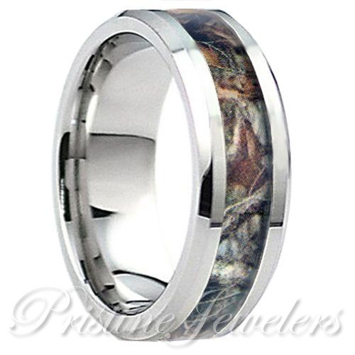 camo wedding rings for women details about titanium brown oak real forest camo ring men 2414