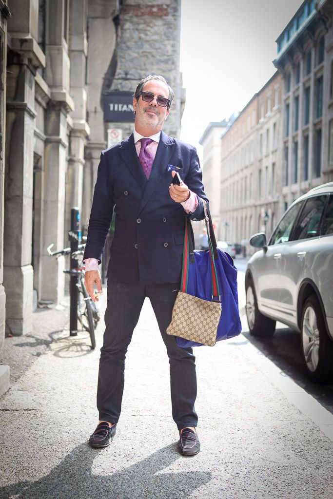 Dick Walsh, fashion event designer spotted in Old Montreal #streetstyle #fashion