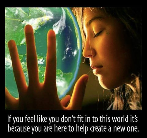 If you don't feel like you #belong it is because you are here to #create a new world. #HerSolution #destiny #acceptance #goals #different #popularity #crowd #motivation