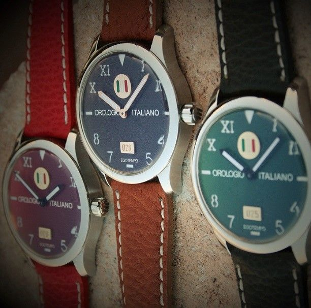 Egotempo ... Italian watch handmade!  You can choose your favorite color !  Stainless steel case, 18k gold and enamels plates applied on the dial ... http://www.egotempo.it/