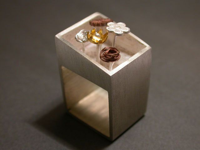Ring | HELENA REZENDE-BR.  Sterling silver, copper and gold