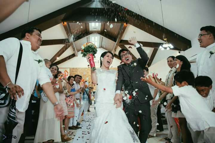 Recessional + Confetti + Wands & Bells ❤ #janeroge #jaro July 08, 2015 Boracay Island, Malay, Aklan, Philippines #dreamwedding #churchwedding #beachwedding #toalifetimeofadventurestogether