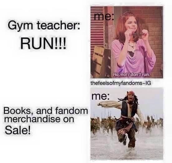 RUN! #bibliophileproblems