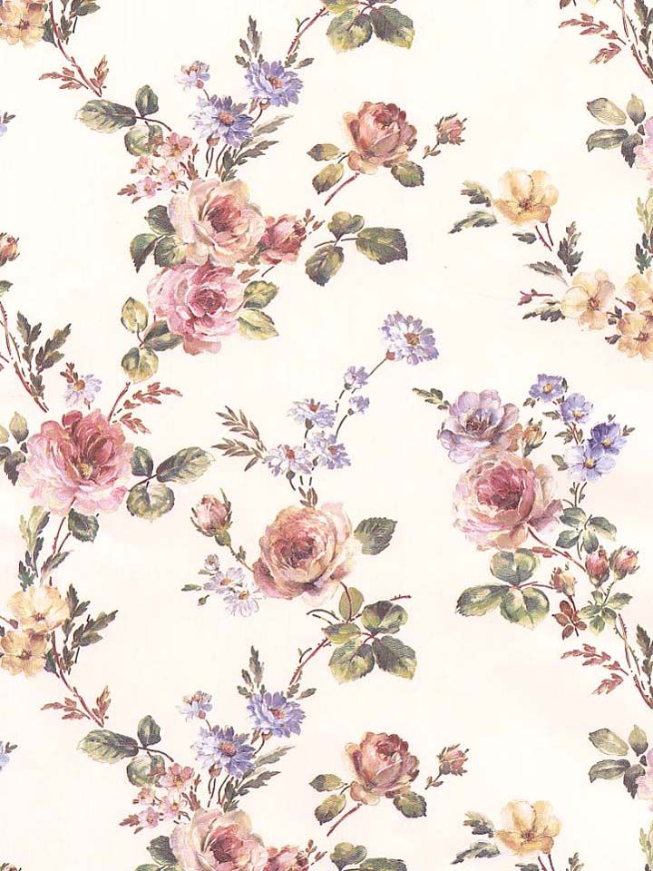 Colorful and whimsical, this rose-themed wallpaper would be perfect in any shabby-chic home. From the book Mirage Signature Vol IV AmericanBlinds.com