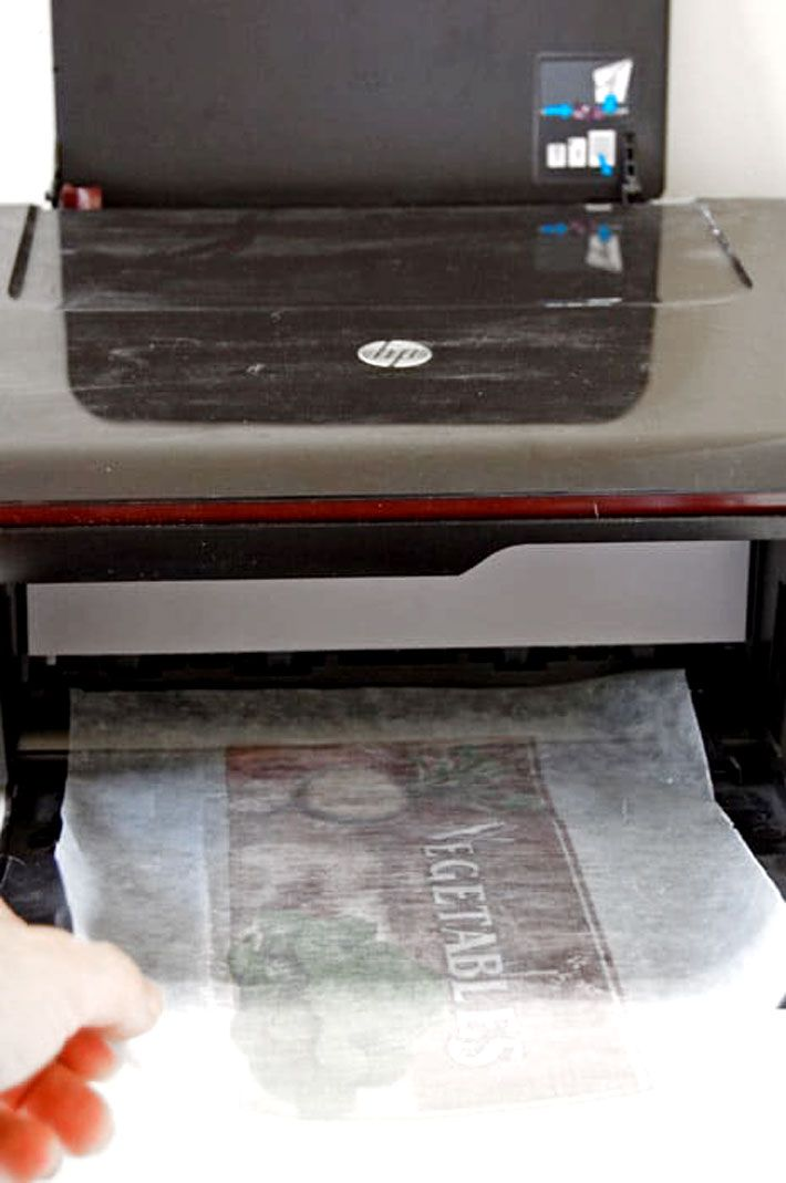 How To Print Pictures On Wood Waxed Paper Transfer Wax Paper