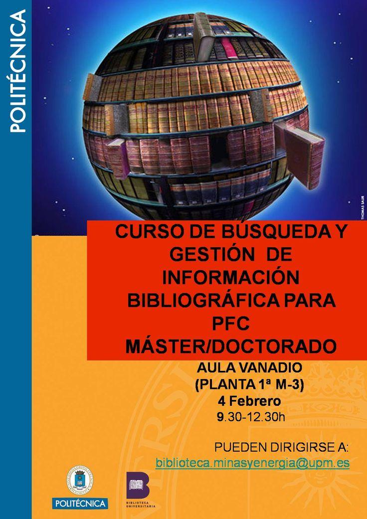 """CURSO BIBLIOTECA """"BÚSQUEDA Y GESTIÓN DE INFORMACIÓN BIBLIOGRÁFICA"""""""