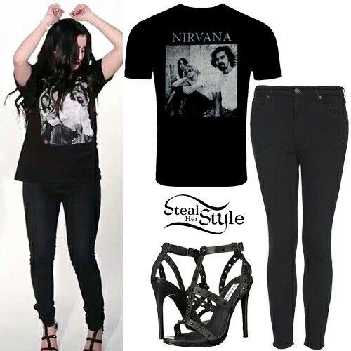 Omg Her Nirvana Shirt Lauren Jauregui Steal Her Style