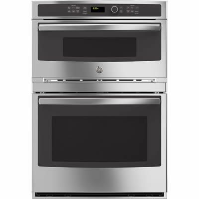 GE Profile™ Series built-in combination convection microwave wall oven. This combination wall oven features a 1.7 cu.ft. microwave and a 5.0 cu.ft. capacity large oven. It also features True European convection lower oven, convection microwave ans self-clean with steam clean option on the large oven.ve ans self-clean with steam clean option on the large oven.