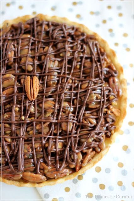 The Domestic Curator: PRALINE TURTLE PIE