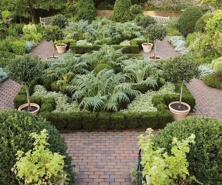 671 best beautiful vegetable gardens images on pinterest for Vegetable herb garden design