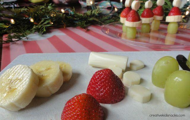 Healthy grinch snack! Love it!!