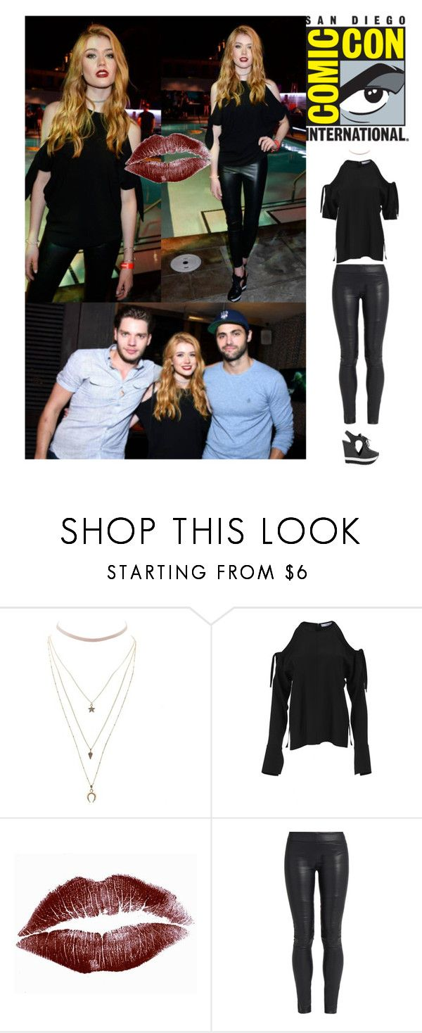 """Outfit #877 Katherine McNamara"" by nmr135 ❤ liked on Polyvore featuring Charlotte Russe, TIBI, The Row, Ruthie Davis, comiccon, KatherineMcNamara, DominicSherwood, nmr and MatthewDaddario"