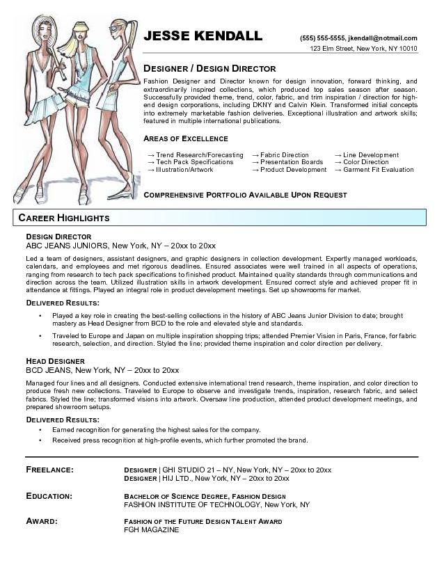fashion resume templates fashion designer resume templates - fashion buyer resume