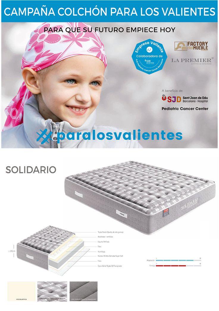 Campaña para la construcción de un hospital infantil especializado en el tratamiento contra el cancer. Colchones La Premiere y Factory del Mueble Utrera colaboran en este proyecto gracias a la venta del colchón Solidario. #paralosvalientes