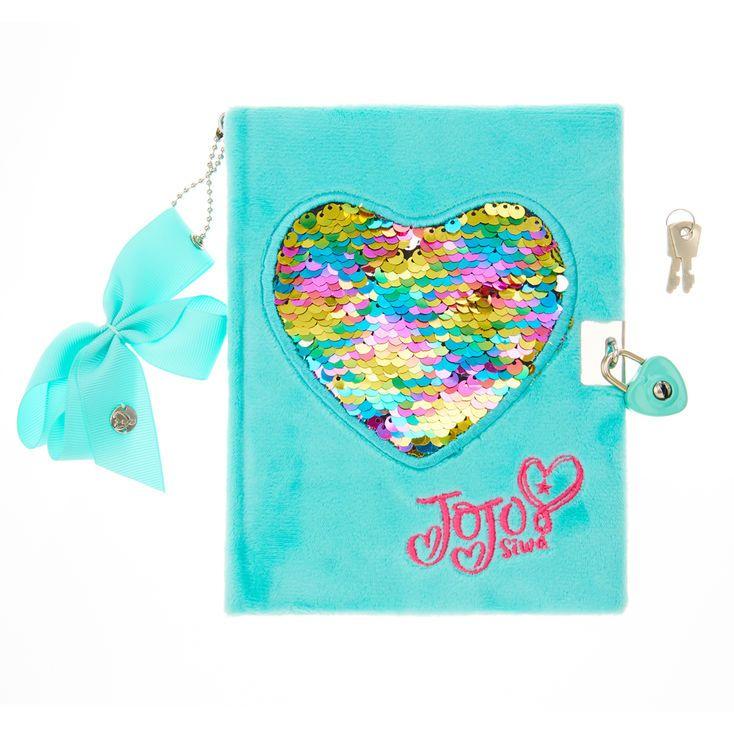 JoJo Siwa Mint Reversible Sequin Heart Notebook,