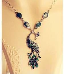 Peacock neck piece