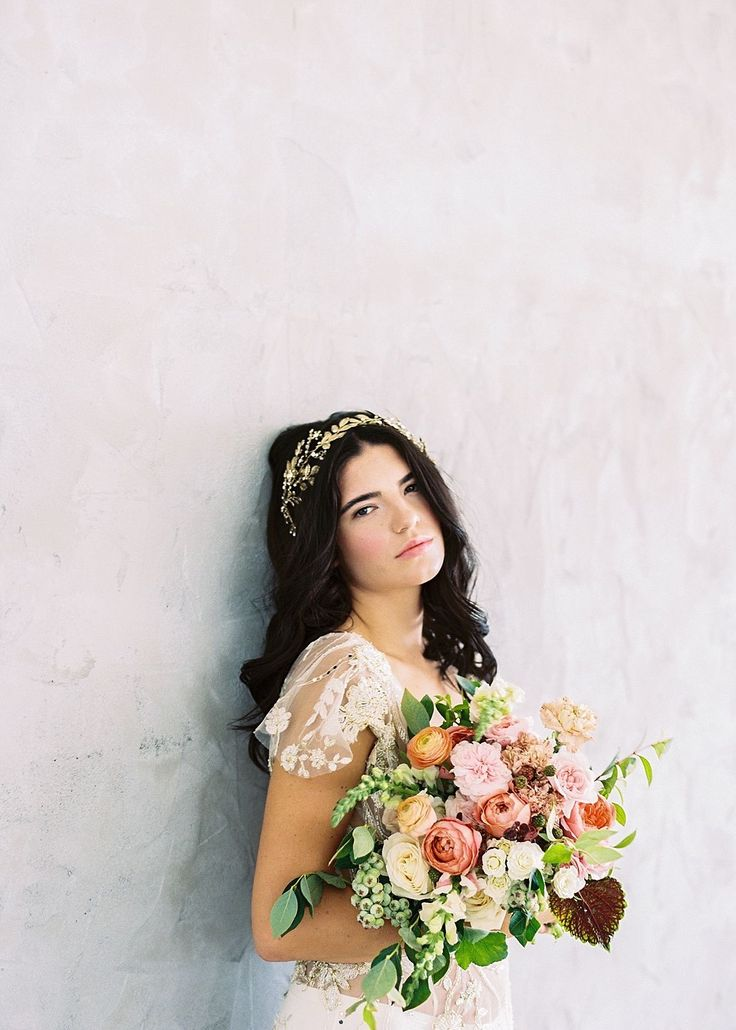 Best Bridal Accessories Inspiration  . accessories: Maggie Wu Studio  / photography: Sally Pinera Photography  / hair & makeup: Be.NYLA  / calligraphy: Seniman Calligraphy  / dresses: Shop Gossamer / florals: Running Wild Florals  http://whitewren.com/artist-feature-maggie-wu-studio/