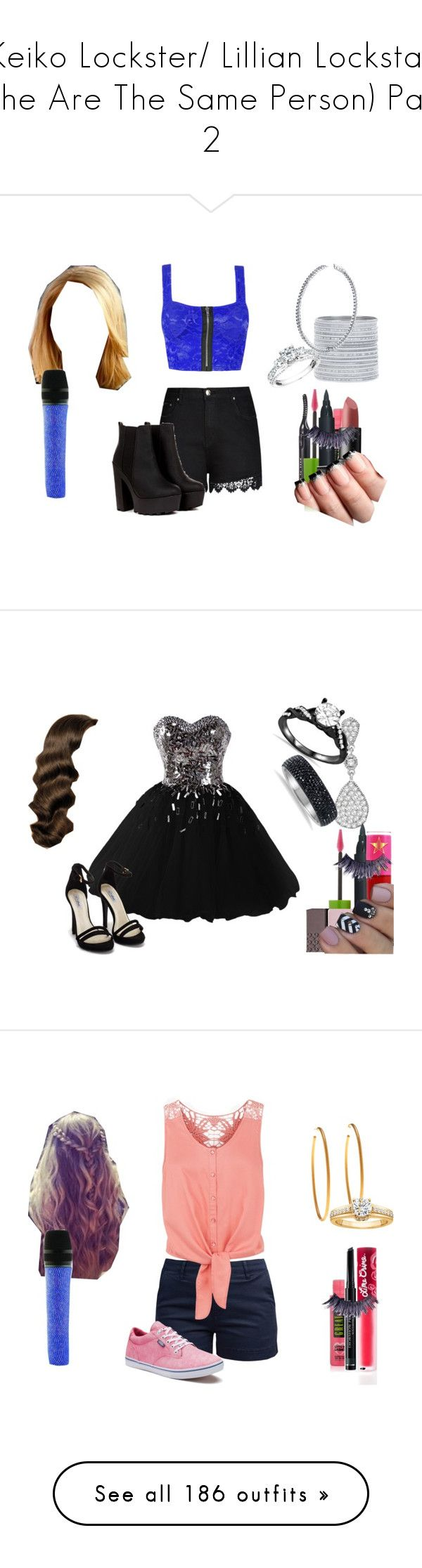 """""""Keiko Lockster/ Lillian Lockstar (The Are The Same Person) Part 2"""" by shestheman01 on Polyvore featuring MAKE UP STORE, Maybelline, City Chic, Manic Panic NYC, Swarovski, BERRICLE, Reeds Jewelers, plus size clothing, Nly Shoes and Allurez"""