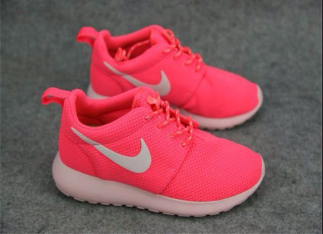 67243a174b9f Neon Pink Roshe Running Shoes. (Perfect for School)