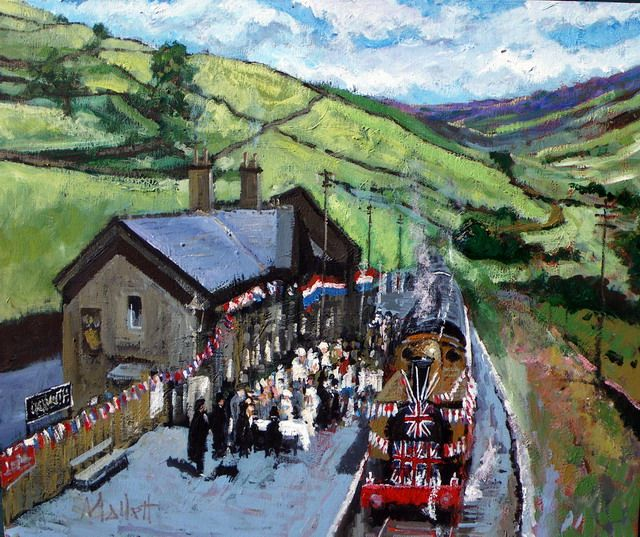 Timmy Mallett - Painting - Railway Children - The Celebration!