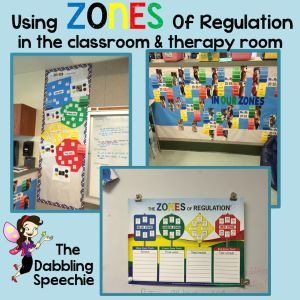 thedabblingspeechie - Using the Zones of Regulation Activities in Therapy! - thedabblingspeechie
