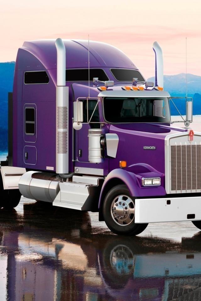 Purple 18 wheeler | Purple Haze | Trucks, Kenworth trucks, Vehicles