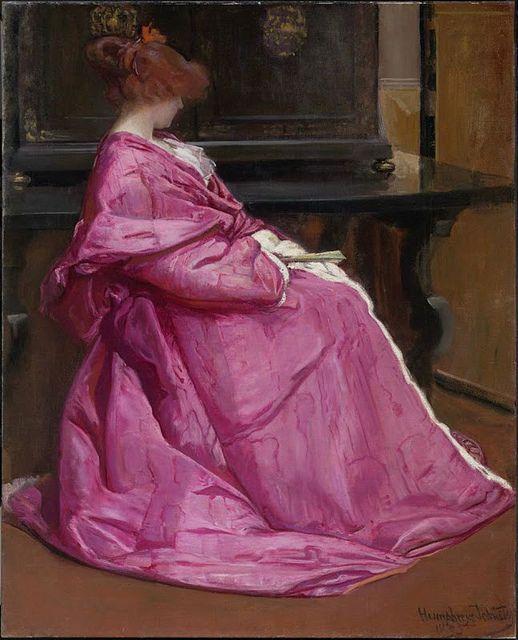 John Humphreys Johnston (American, 1857-1941) : Le Domino Rose, 1895. Museum of Fine Arts, Boston.