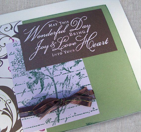 Wedding Gift Ideas Remarriage : Wedding Card Wedding Day Card with Script Happy Wedding