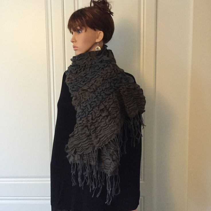 Scarf by Morsta of London in Grey/Brown